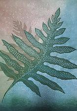 Laua'e by Andrea  Pro (Woodcut Print)