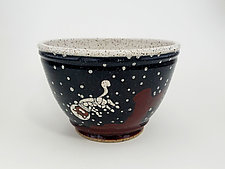 Astronaut Cat Cereal Bowl by Ian Buchbinder (Ceramic Bowl)