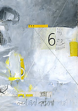 Moral Compass #1 by Linda O'Neill (Mixed-Media Painting)