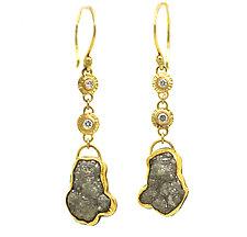 Raw Diamond Earrings by Jenny Foulkes (Gold & Stone Earrings)