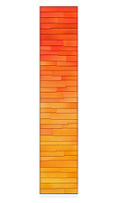 Vermillion Gradation by Robert A. Brown and Anne Moran (Metal Wall Sculpture)