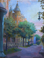 Boysoshaya Street by Cathy Locke (Oil Painting)