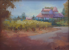 Rose House by Cathy Locke (Oil Painting)