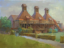 Hopkins Winery by Cathy Locke (Oil Painting)
