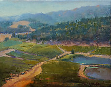 Kunde Winery by Cathy Locke (Oil Painting)