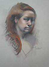 Maggie by Cathy Locke (Charcoal & Pastel Drawing)