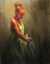 The Washing I by Cathy Locke (Oil Painting)