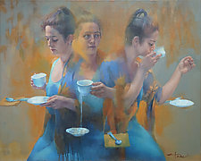 Tea Leaves by Cathy Locke (Oil Painting)