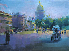 Palace Square by Cathy Locke (Oil Painting)