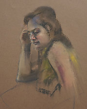 Lost in Thought by Cathy Locke (Pastel Drawing)
