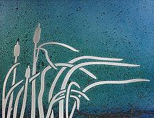 Cattails by Robert Rickard (Metal Wall Sculpture)