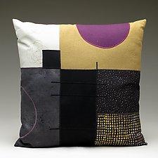 Purple Moon by Susan Hill (Cotton, Linen & Silk Pillow)
