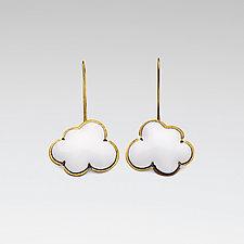 Enamel Cloud Earrings by Lisa Crowder (Enameled Earrings)