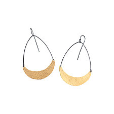Single Arc Earrings by Lisa Crowder (Gold & Silver Earrings)