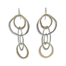 Large Jumble Earrings by Lisa Crowder (Gold & Silver Earrings)