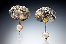 Tanesha Earrings by Nina Mann (Gold, Silver & Stone Earrings)