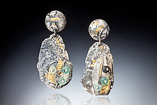 Alai Earrings by Nina Mann (Gold, Silver & Stone Earrings)