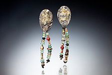 Kianni Earrings by Nina Mann (Gold, Silver & Stone Earrings)