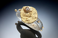 Clearings in the Sky Ring by Nina Mann (Gold & Stone Ring)