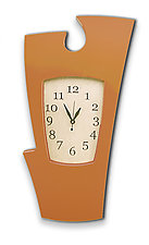 Simon Says Clock by Vincent Leman (Wood Wall Clock)