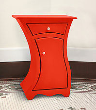 Spark Table with Door by Vincent Leman (Wood Side Table)