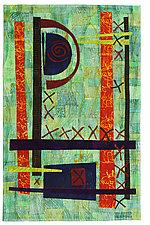 Toe the Line by Catherine Kleeman (Fiber Wall Hanging)
