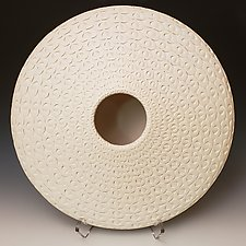 White Sand Dollar 2 by Michael Wisner (Ceramic Vessel)
