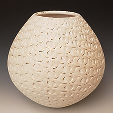 White Sand Dollar by Michael Wisner (Ceramic Vessel)