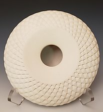 White Sunflower by Michael Wisner (Ceramic Vessel)