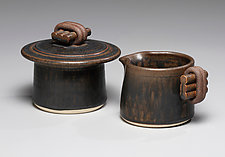Creamer and Sugar Set by Jan Schachter (Ceramic Serving Piece)