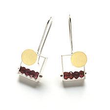Sunset Earrings by Ashka Dymel (Gold, Silver & Stone Earrings)