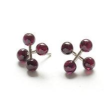 Jacks Earrings with Carnelian by Ashka Dymel (Silver & Stone Earrings)