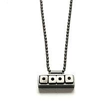 Horizontal Bar Necklace by Ashka Dymel (Silver Necklace)