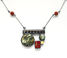 Collage Necklace #2 by Ashka Dymel (Gold, Silver & Stone Necklace)
