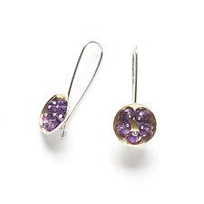 Mini Dome Earrings by Ashka Dymel (Gold, Silver & Stone Earrings)