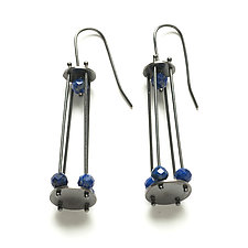 Long Cage Earrings by Ashka Dymel (Silver Earrings)