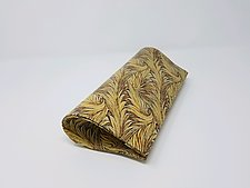Miriam Abstract Leaf Patterned Evening Bag by Michelle  LaLonde (Leather Purse)