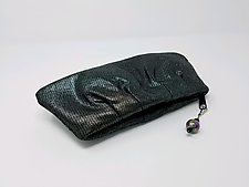 Cara Gunmetal Lambskin Evening Clutch by Michelle  LaLonde (Leather Purse)