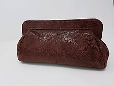 Quinn Burgundy Lambskin Handbag by Michelle  LaLonde (Leather Purse)