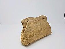 Rachel Gold Lambskin Handbag by Michelle  LaLonde (Leather Purse)