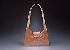 April Gold Stingray Leather Shoulder Bag by Michelle  LaLonde (Leather Purse)