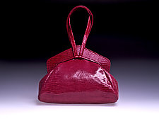 Muriel Fuchsia Evening Bag by Michelle  LaLonde (Leather Purse)