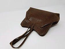 Deborah Brown Wristlet Evening Bag by Michelle  LaLonde (Leather Purse)
