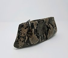 Cara Lambskin Evening Clutch by Michelle  LaLonde (Leather Purse)