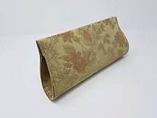 Miriam Camel Floral Leather Evening Bag by Michelle  LaLonde (null)