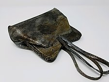 Deborah Metallic Lambskin Evening Bag by Michelle  LaLonde (Leather Purse)