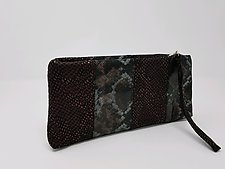 Hannah Pieced Leather Clutch by Michelle  LaLonde (Leather Purse)