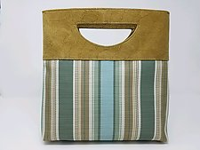 Julia Dark Camel Leather and Weave Handbag by Michelle  LaLonde (Leather Purse)