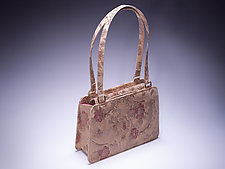 Luce Day Bag in Camel Floral Lambskin by Michelle  LaLonde (Leather Purse)