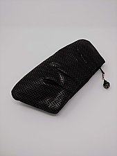 Cara Amethyst and Black Lambskin Clutch by Michelle  LaLonde (Leather Purse)